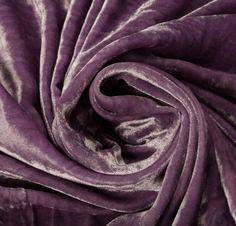 100% Rayon Velvet Purple Fabric - New Fabrics - Fabrics