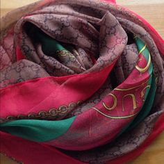 Beautiful silk scarf . silk Brand new . No tag . Not real but gorgeous Gucci Accessories Hair Accessories