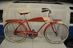 50's bicycle-my sister had one that was also passed down to me and my brother. Wish we still had it. My son would have loved it since he's into vintage things and antiques.