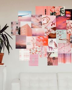 Pretty in Pink Print Kit – Heartman Pink Dorm Rooms, Pink Room, Room Ideas Bedroom, Bedroom Decor, Creative Wall Decor, Bedroom Wall Collage, Picture Wall Collage, Dorm Walls, Cute Room Decor
