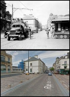 rue des Tribunaux à Cherbourg, #Normandia1944