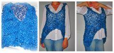 colete de tricot e renda