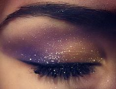 Galaxy Make-up. We sould have done this for my Acro dance, Mr. Robto!!