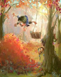 The Exhibition of Character & Illustration by Marco Bucci / Canada :: fall Art Store, Children's Book Illustration, Whimsical Art, Clipart, Cute Art, Fantasy Art, Concept Art, Anime, Character Design