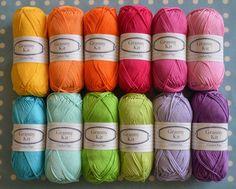 100% katoen garens 12 kleuren oma Kit Ready te verzenden door CrochetObjet