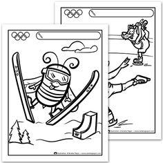 Dessin d un gar on qui envoie un palet de hockey sur glace - Flamme olympique dessin ...