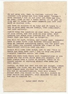 """Poem is typed on 6"""" x 8"""" hand pressed hemp paper using a 1955 Olympia SM3 Please note if you'd like signature on front or back"""