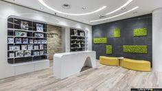 Современный дизайн для  аптеки: интерьер с зеленью
