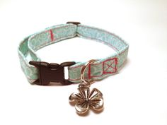 Breakaway Adjustable Cat Collar with Bell  by ShortcakeDesigns, $11.00