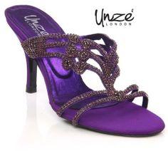 b6044405cebb Women Evening Heeled Slip On Sandals For More Detail Visit Us At ▻  Unze Uk