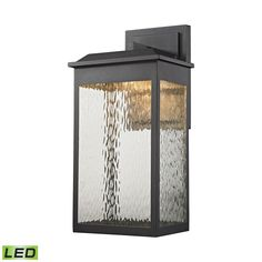 Newcastle LED Outdoor Wall Sconce In Matte Black 45202/LED