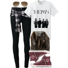 """Stiles Inspired Outfit with Red Converse"" by veterization on Polyvore"