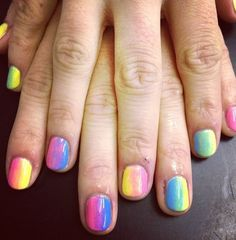 Sweets coloured nails Summer Nailart