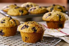 Warm blueberry muffins fresh from the oven are hard to beat. Try these low fat blueberry muffins for breakfast or as part of a low fat brunch. Low Fat Blueberry Muffins, Lemon Blueberry Loaf, Banana Bran Muffins, Blue Berry Muffins, Blueberries Muffins, Blueberry Recipes, Banana Bread, Muffin Recipes, Bread Recipes