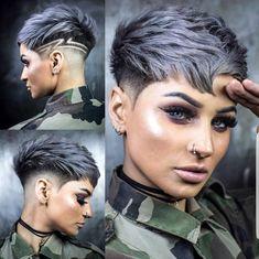 credit card advertising Soldat war noch nie so schn . Dank an ayesha_jessica Stylis - - Haare hellbraun Soldat war noch nie so schn . Dank an ayesha_jessica Stylis - - Ellise M. Funky Short Hair, Short Hair Cuts, Short Hair Styles, Shaved Hair Cuts, Pixie Cut Wig, Pixie Haircut, Pixie Cuts, Short Pixie, Undercut Hairstyles