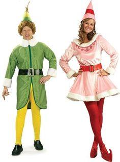 COUPLES ELF MOVIE BUDDY AND JOVI CHRISTMAS COSTUME Holiday Season Halloween | eBay