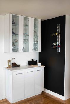 """Birch & Beauty: the Kennebecasis House - a """"Before & After"""" residential makeover. Modern Interiors, Double Vanity, Stockholm, Bathroom Medicine Cabinet, Decorative Items, Wine Rack, Birch, Bloom, House Design"""