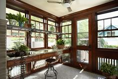 Renovated 1919 potting room, inspired by Parisian hotels.  Morningside Bungalow - Meriwether Inc.