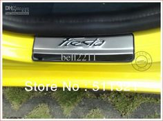 Stainless Scuff Plate/Door SiLL Trim for ford fiesta 2008-2013 free shipping car trim. The best Christmas gift you can give to him if he owns a Ford Fiesta. US $34.99