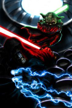 Yoda Vs. Sidious by ~GurgleSploit on deviantART