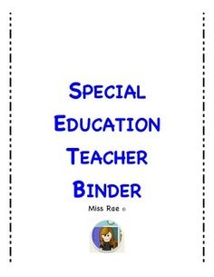 The ultimate special education teacher starter packet anecdotal special education teacher binder 74 pages of everything you need to survive as a special education toneelgroepblik Choice Image