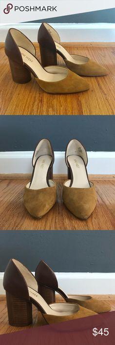 77760721dbb Nine West Charles D orsay camel block heels suede Beautiful pair of Nine  West D