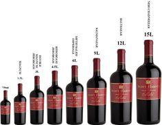La taille et le nom des bouteilles de vin - La Feuille de Vigne