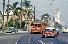 LOS ANGELES / HOLLYWOOD:  Looking east from the intersection of Hollywood…