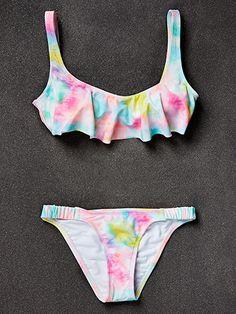 Tie Dye Aka Macy's The Bikini Lab Cropped Top.