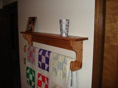 Wall hanging Quilt Rack and Shelf (2)  07464dc28