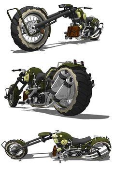 US Army Chopper Motorcycle Futuristic Motorcycle, Futuristic Cars, Motorcycle Design, Bike Design, Concept Motorcycles, Triumph Motorcycles, Enduro, Mechanical Design, Dieselpunk