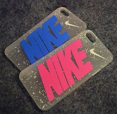 nike logo and character phone case with yellow spots