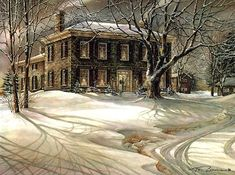Winter Twilight by Trisha Romance. Limited Edition Print for sale.