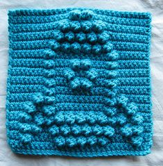 Rocket Bobble Chart Free Crochet Pattern from Kari Philpott