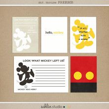 Mr. Mouse - project Mouse journaling and filler cards - free printable (several other free downloads also listed)