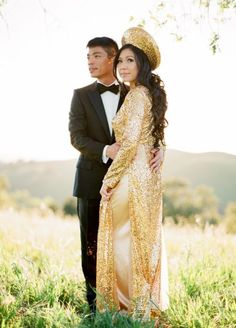 I want gold as my ao dai for the vietnamese tea ceremony :)