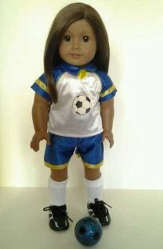 Soccer Outfit for American Girl Dolls by DollsHobbiesNmore. $24.99. Soccer Outfit Complete with Shoes and socks. Ball and Doll is not included
