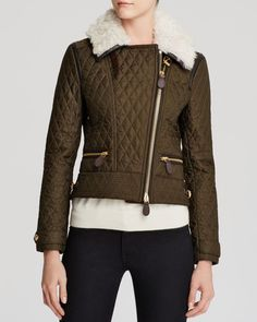 Burberry Brit Weatherford Quilted Aviator Jacket
