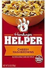 Betty Crocker Hamburger Helper Cheesy Hashbrowns oz Box (pack of Real potatoes & naturally flavored cheesy topping mix. Sauce For Rice, Hamburger Helper Recipes, Cheesy Hashbrowns, Beef Pasta, Homemade Hamburgers, Cheesy Sauce, Stuffed Pasta Shells, How To Make Homemade, Homemade Food