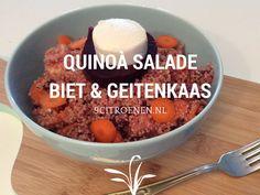 quinoa salade met biet en geitenkaas
