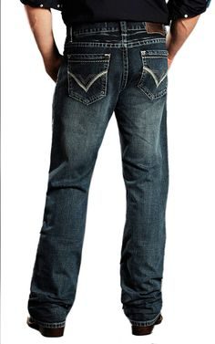 Rock   Roll Cowboy® Dark Wash Double Barrel Running Stitch Double V Relaxed  Fit Boot a390af6f156