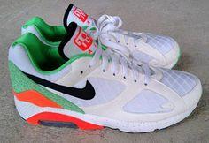 Nike Air 180 – White/Orange/Green Safari
