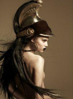 Anais Pouliot as Athena Pallas Greek inspired Poses, Portraits, Warrior Princess, Greek Gods, Greek Mythology, Roman Mythology, Belle Photo, Headdress, Character Inspiration