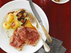 Kalbsschnitzel mit Champignons & Kartoffeln
