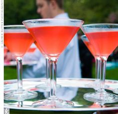 Coral / Watermelon Martini as your signature drink? Or grapefruit would work but paler color :)