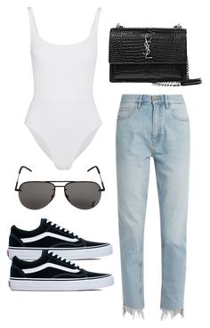 """Untitled #4852"" by lilaclynn ❤ liked on Polyvore featuring Eres, M.i.h Jeans, Vans, Yves Saint Laurent, YSL, vans, saintlaurent and yvessaintlaurent"
