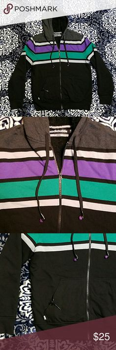 Hoodiebuddie with hb3 Technology Black Gray M Tested and working condition.  This is the coolest Hoodie I've come across. Perfect like new condition with no rips stains or damage. Black, gray, green and purple. Warm and soft fleece. So so soft faux fur interior lining. Size M.  (posh9) HoodieBuddie  Tops Sweatshirts & Hoodies