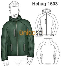 MOLDES CHAQUETA SPORT HOMBRE Serger Sewing, Pattern Cutting, Pants Pattern, Fashion Flats, Couture, Toddler Boys, Hooded Jacket, Sportswear, Sewing Patterns