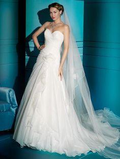 Luxury A-line organza sleeveless bridal gown nice-wedding-dress Dresses 2013, 2015 Wedding Dresses, Colored Wedding Dresses, Wedding Gowns, Dresses Dresses, Dresses Online, Cute Wedding Dress, Perfect Wedding, One Shoulder Wedding Dress