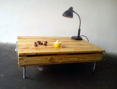 Table from pallet and reclaimed wood.